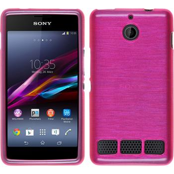 Silikon Hülle Xperia E1 brushed pink