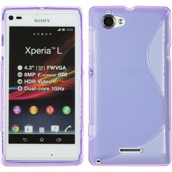 Silicone Case for Sony Xperia L S-Style purple