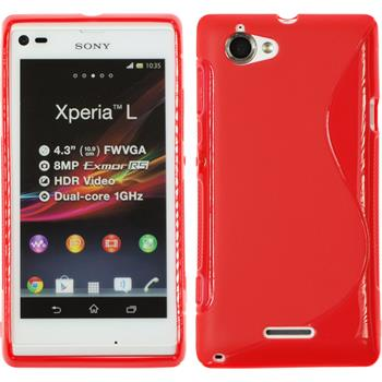 Silicone Case for Sony Xperia L S-Style red