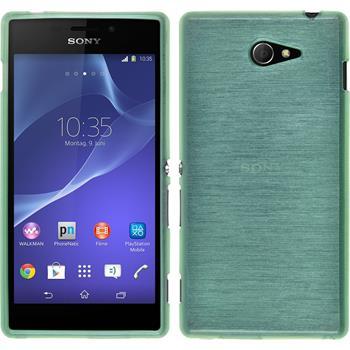 Silikonhülle für Sony Xperia M2 brushed grün