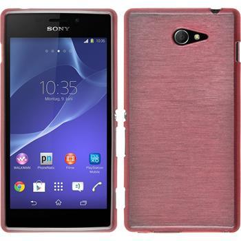 Silikonhülle für Sony Xperia M2 brushed rosa