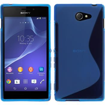 Silicone Case for Sony Xperia M2 S-Style blue