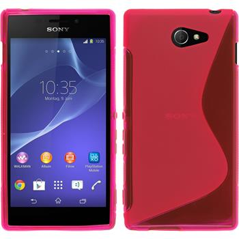 Silicone Case for Sony Xperia M2 S-Style hot pink