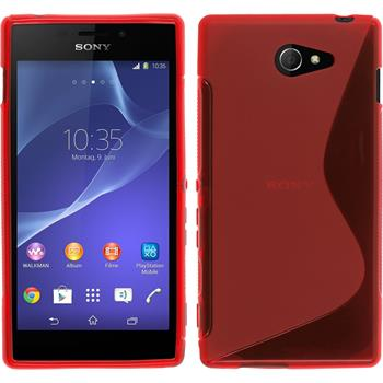 Silicone Case for Sony Xperia M2 S-Style red