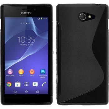 Silicone Case for Sony Xperia M2 S-Style black