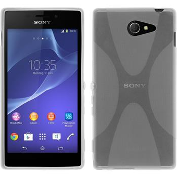 Silicone Case for Sony Xperia M2 X-Style transparent