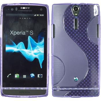 Silicone Case for Sony Xperia S S-Style purple