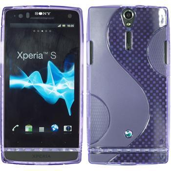 Silikon Hülle Xperia S S-Style lila