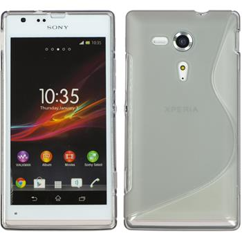 Silicone Case for Sony Xperia SP S-Style gray