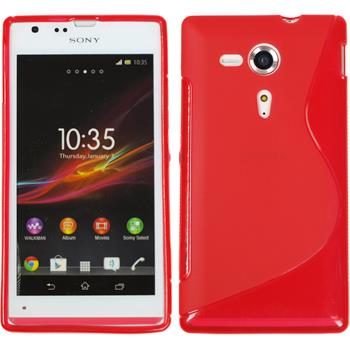 Silicone Case for Sony Xperia SP S-Style red