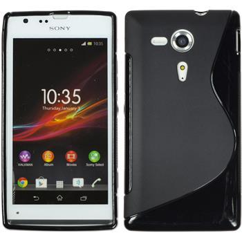 Silikonhülle für Sony Xperia SP S-Style schwarz
