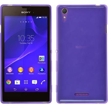 Silicone Case for Sony Xperia T3 transparent purple