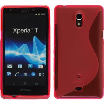 Silikonhülle für Sony Xperia T S-Style pink