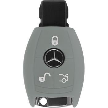 Silikon Schlüssel Hülle Mercedes-Benz B Klasse 3-Tasten Fernbedienung grau Funkschlüssel