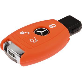 Silikon Schlüssel Hülle Mercedes-Benz GLK260 Klasse 3-Tasten Fernbedienung orange Funkschlüssel