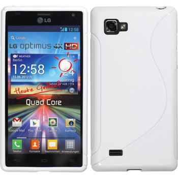 Silicone Case for LG Optimus 4X HD P880 S-Style white
