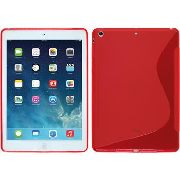 Silikon Hülle iPad Air S-Style rot + 2 Schutzfolien