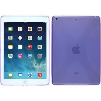 Silikon Hülle iPad Air X-Style lila