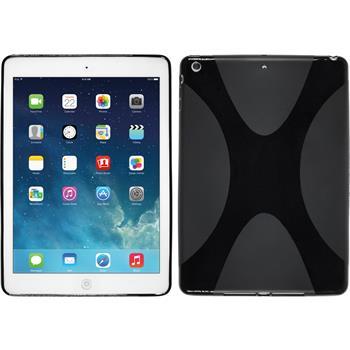 Silikon Hülle iPad Air X-Style schwarz
