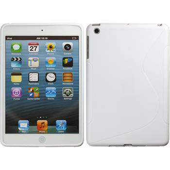Silikon Hülle iPad Mini 3 2 1 S-Style weiß + 2 Schutzfolien