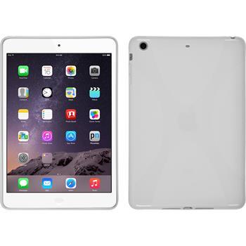 Silikon Hülle iPad Mini 3 2 1 X-Style weiß + 2 Schutzfolien