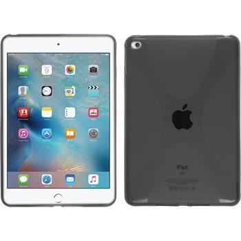Silikon Hülle iPad Mini 4 X-Style grau