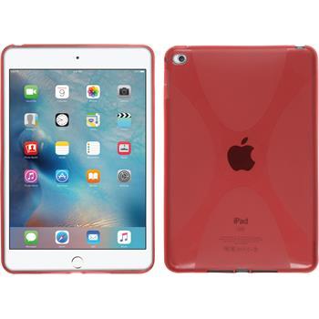 Silikon Hülle iPad Mini 4 X-Style rot