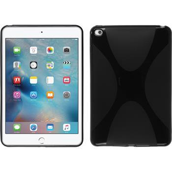 Silikon Hülle iPad Mini 4 X-Style schwarz