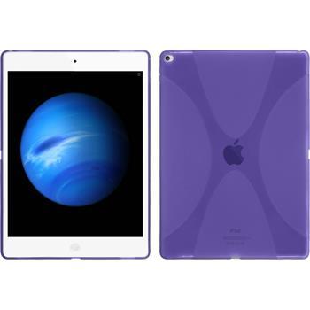 Silikon Hülle iPad Pro X-Style lila