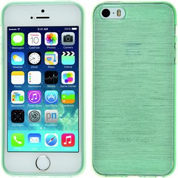 Silikon Hülle iPhone 5 / 5s / SE brushed grün