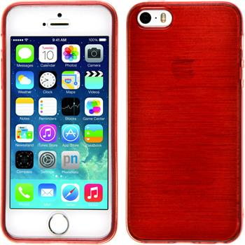 Silicone Case for Apple iPhone 5 / 5s brushed red