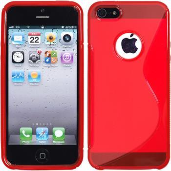 Silikon Hülle iPhone 5 / 5s / SE S-Style Logo rot