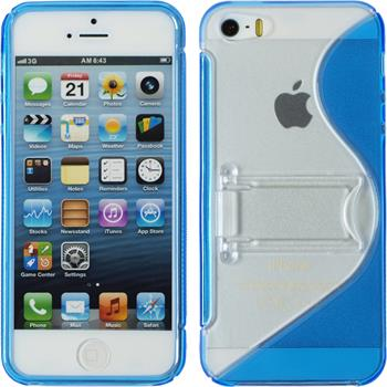 Silicone Case for Apple iPhone 5 / 5s S-Style blue