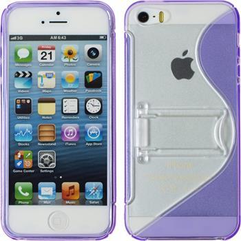 Silikon Hülle iPhone 5 / 5s / SE S-Style lila