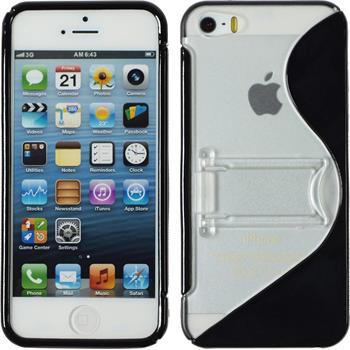 Silicone Case for Apple iPhone 5 / 5s S-Style black