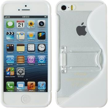 Silikon Hülle iPhone 5 / 5s / SE S-Style weiß