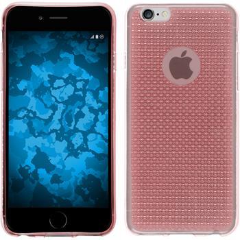 Silikon Hülle iPhone 5 / 5s / SE Iced rosa + 2 Schutzfolien