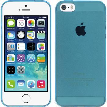 Silikon Hülle iPhone 5 / 5s / SE Slimcase blau