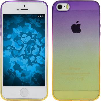 Silikon Hülle iPhone 5 / 5s / SE Ombrè Design:05 + 2 Schutzfolien