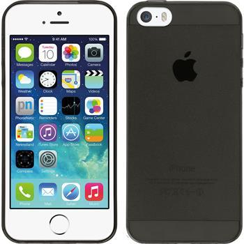 Silikonhülle für Apple iPhone 5 / 5s / SE Slimcase grau