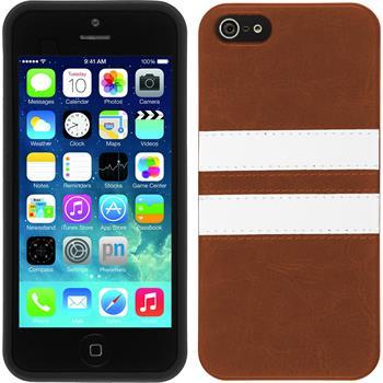 Silikon Hülle iPhone 5 / 5s / SE Stripes braun
