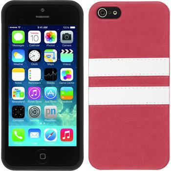 Silikon Hülle iPhone 5 / 5s / SE Stripes pink