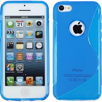 Silicone Case for Apple iPhone 5c S-Style logo blue