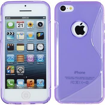 Silikon Hülle iPhone 5c S-Style Logo lila