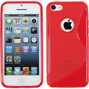 Silikon Hülle iPhone 5c S-Style Logo rot