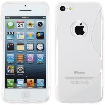 Silikon Hülle iPhone 5c S-Style Logo clear