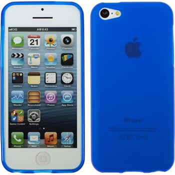 Silikon Hülle iPhone 5c matt blau