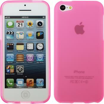 Silikon Hülle iPhone 5c matt rosa