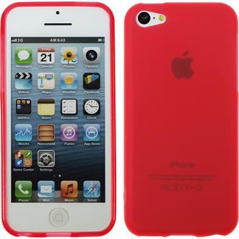 Silikon Hülle iPhone 5c matt rot