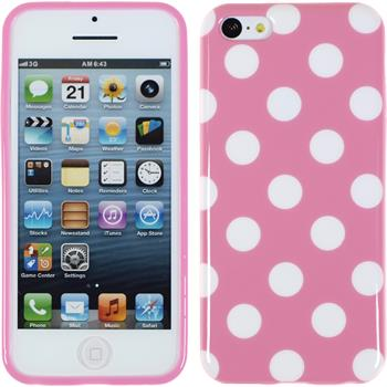 Silicone Case for Apple iPhone 5c Polkadot Design:02
